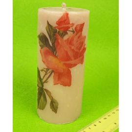 Свічка тубус 15 см. «Троянда »