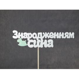 Декор на паличці «З народженням сина» фарбований