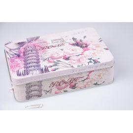 Коробка для фотографій  17 × 12 × 4.5 см. рожеві квіти