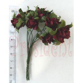 Бутоньєрка троянда бордова  66-01917