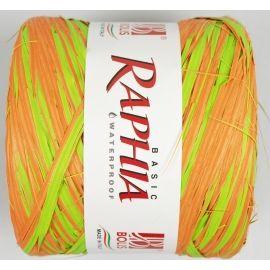 Рафія Італія  200m  оранж+ салат