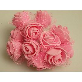 Бутоньєрка латекс 3 см.рожева