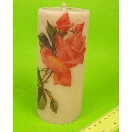 Candle tube 15 cm Rosa