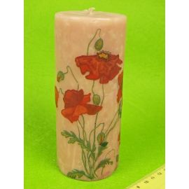 """Candle tube 15 see """"Poppies """""""