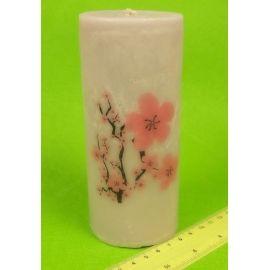 Свічка тубус 15 см. «Сакура »