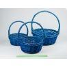 Комплект корзини сині 3 шт. 30 ×30 ×13 см.