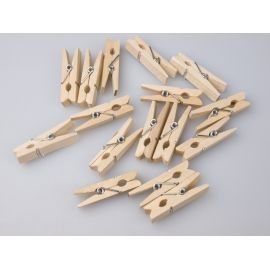 Clothespin white wooden 3 cm.