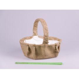 Basket of burlap