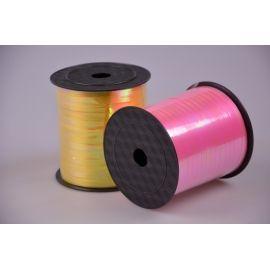 Лента 0.5 см.× 250 ярд.перламутр розовая