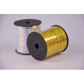Стрічка 0.5 см.× 250 ярд.галограмна золото
