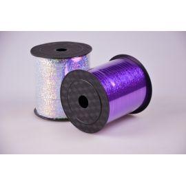 Стрічка 0.5 см.× 250 ярд.галограмна фіолетова