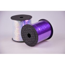 Ribbon 0.5 cm. × 250 Yard. Holographic fiolet