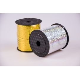 Ribbon 0.5 cm. × 250 Yard. Holographic silver