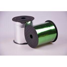 Стрічка 0.5 см.× 250 ярд.метал зелена