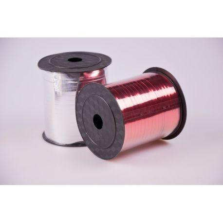 Стрічка 0.5 см.× 250 ярд.метал червона