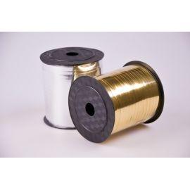 Стрічка 0.5 см.× 250 ярд.метал золото