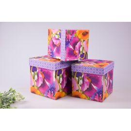 Комлект коробок подарочных  «Акварели»  3 шт.