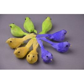 Birds colored 9 pcs.