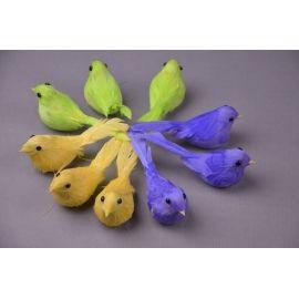 Пташки кольорові 9 шт.