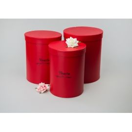 Тубуси високі «Flower» 9668 червоні 3 шт.