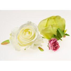 Rose large 11 cm white