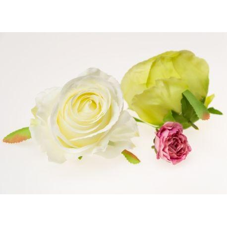 Роза большая 11 см. белая