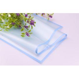 Плівка матова з каймою 60 × 60 см. блакитна