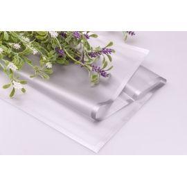 Плівка матова з каймою 60 × 60 см. срібляста