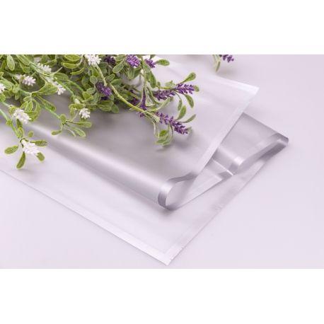 Пленка матовая из каймой 60 × 60 см. серебристая