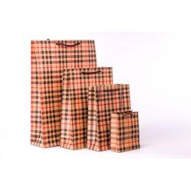 Пакет крафтовий 24 .5 см.× 18.5 см. × 7 см. « В клітинку »