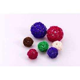 Rattan ball 4 cm in color