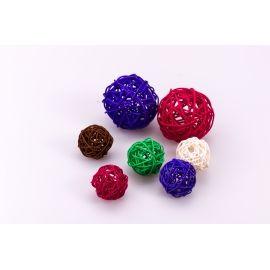 Ротангова кулька 4 см. кольорова