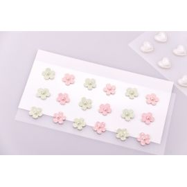 "Decorative stickers ""Flowers multicolored"" 18 pcs."