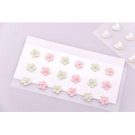 Декоративные наклейки « Цветочки разноцветные »18 шт.
