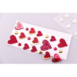 "Decorative stickers ""Heart Red"" 21 pcs."