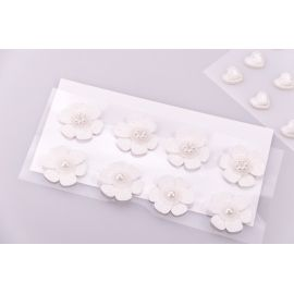 "Decorative stickers ""Flowers white"" 8 pcs."