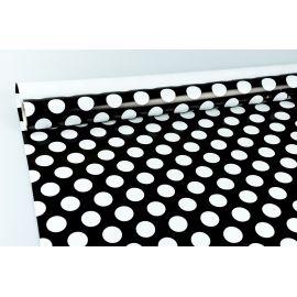 Бумага мелованная 0.7×10 «Горохи» на черном