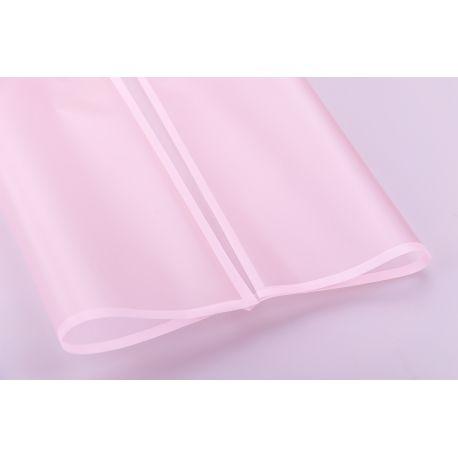 Пленка матовая из каймой 60 × 60 см. розовая