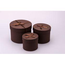 Тубусы небольшие из бантиком 3 шт. коричневые