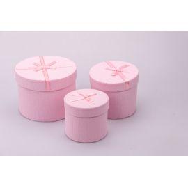 Тубуси малі з бантиком 3 шт.рожеві
