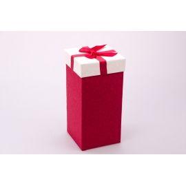 Коробка для подарунків висока 20×10×10см.червона