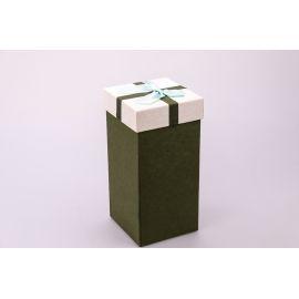 Коробка для подарунків висока 20×10×10см. олива