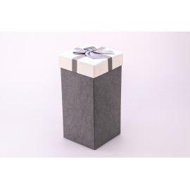 Коробка для подарунків висока 20×10×10см. сіра