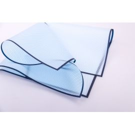The film is matte striped from the border 60 × 60 cm.blue + blue