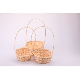 Small natural baskets 3 pcs.