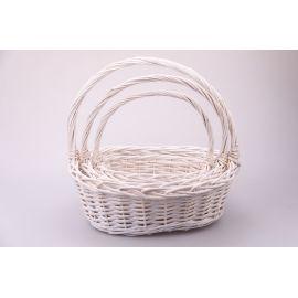 White oval baskets 3 pcs.