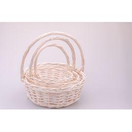 White big round baskets 3 pcs.
