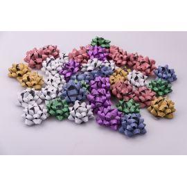 Банты звездочки 6 см.цветной метал матовые 40 шт.