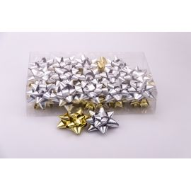 Balls of a star 7 cm metal 30 pcs.