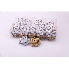 Банти зірочки 7 см метал матові 30 шт.